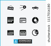 trendy icon. collection of 9...