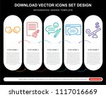 5 vector icons such as...   Shutterstock .eps vector #1117016669