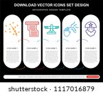 5 vector icons such as magic... | Shutterstock .eps vector #1117016879