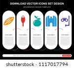 5 vector icons such as...   Shutterstock .eps vector #1117017794
