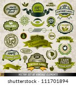 organic food labels and vector...   Shutterstock .eps vector #111701894