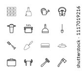 handle icon. collection of 16... | Shutterstock .eps vector #1117019216