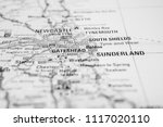 cities of united kingdom on the ... | Shutterstock . vector #1117020110