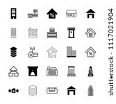 residential icon. collection of ... | Shutterstock .eps vector #1117021904