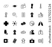 illness icon. collection of 25... | Shutterstock .eps vector #1117022126