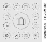 briefcase icon. collection of...   Shutterstock .eps vector #1117025780