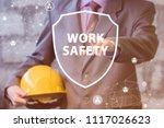 businessman presenting work... | Shutterstock . vector #1117026623