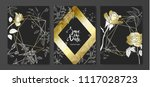 luxury cards collection with... | Shutterstock .eps vector #1117028723