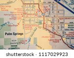 palm springs city on usa map   Shutterstock . vector #1117029923