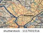 philadelphia on usa map | Shutterstock . vector #1117031516