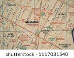 manhattan on usa map   Shutterstock . vector #1117031540