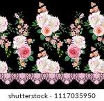 floral seamless pattern. flower ... | Shutterstock . vector #1117035950
