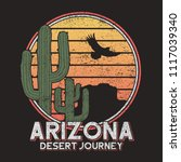 arizona t shirt typography with ... | Shutterstock .eps vector #1117039340