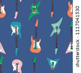 seamless pattern with various... | Shutterstock .eps vector #1117041530