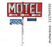 3d illustration of a motel sign | Shutterstock . vector #1117045550