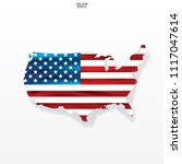 map of the usa with american... | Shutterstock .eps vector #1117047614