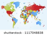 color world map vector | Shutterstock .eps vector #1117048838