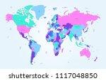 color world map vector | Shutterstock .eps vector #1117048850