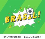 speech bubble brasil with icon... | Shutterstock .eps vector #1117051064