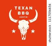 texan bbq austin longhorn food...   Shutterstock .eps vector #1117056656