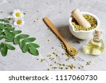 dried chamomile flowers ... | Shutterstock . vector #1117060730
