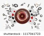 casino background roulette... | Shutterstock .eps vector #1117061723