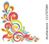 Vector Floral Design. Colorful...