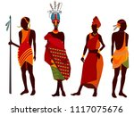 beautiful  stylish set african... | Shutterstock .eps vector #1117075676