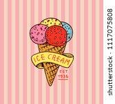 circus gelato badge. retro...   Shutterstock .eps vector #1117075808
