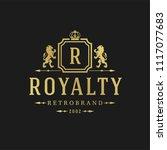 luxury logo design template... | Shutterstock .eps vector #1117077683