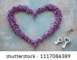 lilac flowers in the shape of... | Shutterstock . vector #1117086389
