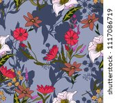 trendy seamless pattern with...   Shutterstock .eps vector #1117086719