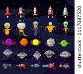 cosmos set concept. set on a...   Shutterstock .eps vector #1117087520