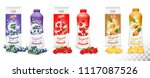 set of yogurt in bottles  and... | Shutterstock .eps vector #1117087526