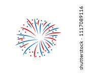 fireworks display celebration... | Shutterstock .eps vector #1117089116