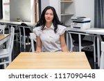student in classroom  happy ... | Shutterstock . vector #1117090448