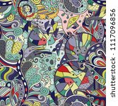 tracery seamless pattern.... | Shutterstock .eps vector #1117096856