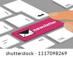 computer or laptop keyboard... | Shutterstock .eps vector #1117098269