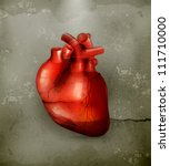 human heart  old style vector | Shutterstock .eps vector #111710000