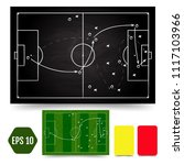 soccer game tactical scheme.... | Shutterstock .eps vector #1117103966