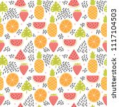 hand drawn colorful seamless... | Shutterstock .eps vector #1117104503