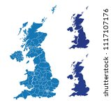 map of great britain | Shutterstock .eps vector #1117107176