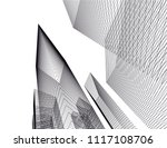 architectural drawing 3d | Shutterstock .eps vector #1117108706