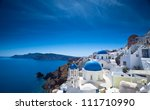 gorgeous santorini scene in the ... | Shutterstock . vector #111710990