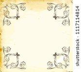 retro baroque decorations... | Shutterstock .eps vector #1117114814
