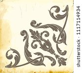 retro baroque decorations... | Shutterstock .eps vector #1117114934
