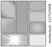 comic book monochrome...   Shutterstock .eps vector #1117115408
