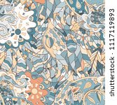 tracery seamless pattern.... | Shutterstock .eps vector #1117119893