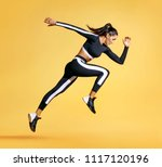 Sporty Woman Runner In...