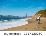 famous baker beach with golden... | Shutterstock . vector #1117120250